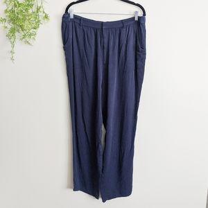 (ModCloth) Navy Blue High Waisted Slacks 1x